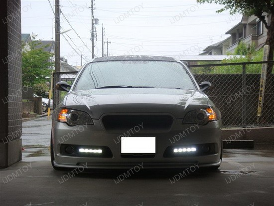 Mercedes Style Daytime Driving Lights On Subaru Legacy